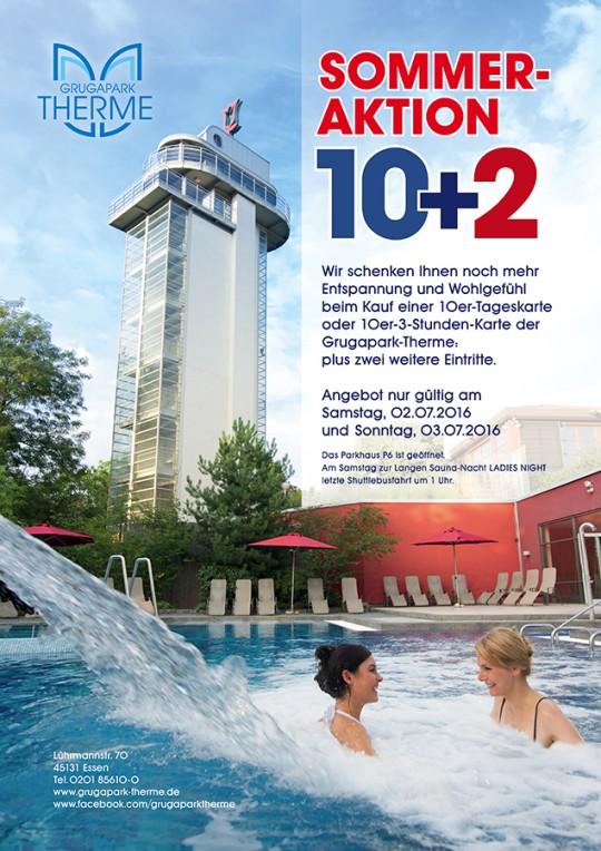 Sommeraktion 10 plus 2 am Samstag, 02.07. und Sonntag, 03.07.2016