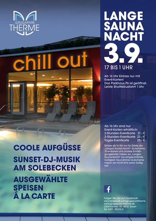 "Lange Saunanacht ""CHILL OUT"" am 03.09.2016"