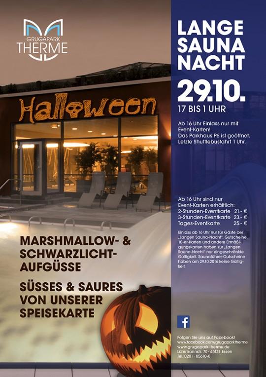 """Lange Saunanacht """"HALLOWEEN"""" am 29.10.2016"""