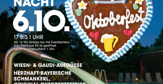 Lange Saunanacht 06. Oktober 2018 Oktoberfest