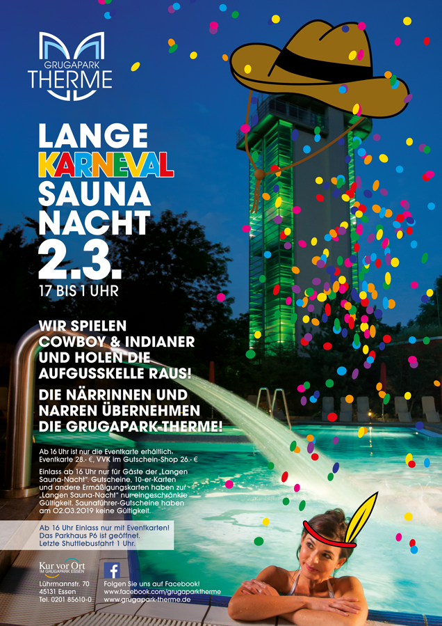 Lange Saunanacht 02. März 2019 Karneval