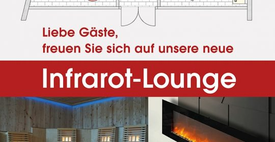 Neue Infrarot Lounge in der Grugapark-Therme